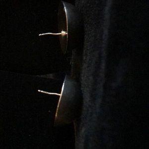 Vintage Jewelry - Half Dome Sterling Silver Earrings
